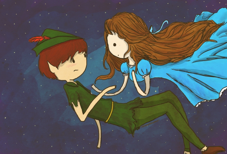 peter_pan_and_wendy_by_hannuss-d4qdhmk