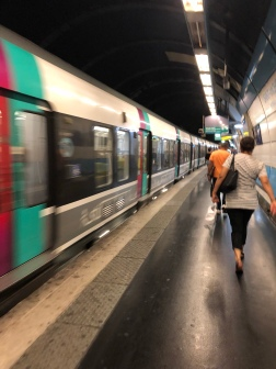With anxiety levels through the roof, and we were underground, I found my way through the Paris Trains System