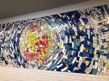 I loved these mosaics in the Paris Metro Stations!